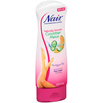 Nair™ Naturally Smooth Cucumber Melon Hair Remover Lotion 9 oz. Bottle