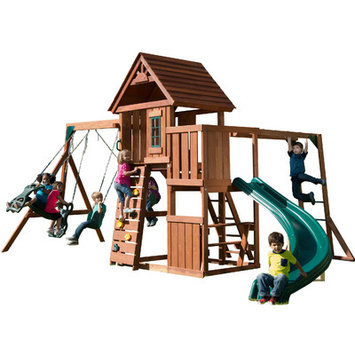 Swing-N-Slide Playsets Swings, Slides & Gyms Cedar Brook Wood Complete Playset Multi PB 8272