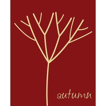 Secretly Designed Autumn Tree Canvas Art Color: Red