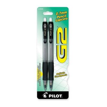Pilot Pencils Mechanical Pencil, Rubber Grip, Refillable, .7mm, 2/PK
