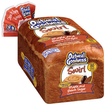 Oatmeal Goodness™ Swirl Maple and Brown Sugar Bread 16 oz. Pack