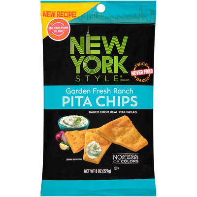 New York Style® Garden Fresh Ranch Pita Chips 8 oz. Bag