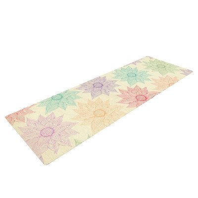 Kess Inhouse Spring Florals by Pom Graphic Design Rainbow Yoga Mat