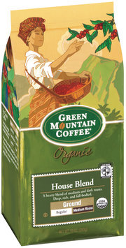 Green Mountain Coffee Roasters   House Blend Ground Organic Coffee 10 Oz Stand Up Bag