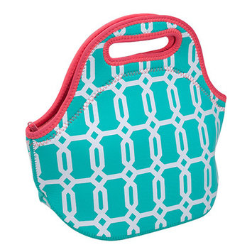 Occasionally Made Turquoise Geometric Insulated Lunch Bag