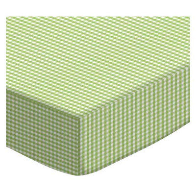 Stwd Gingham Jersey Knit Pack N Play Fitted Sheet Color: Sage