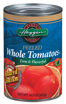 Haggen Whole Peeled Reduced Sodium Tomatoes 14.5 Oz Can