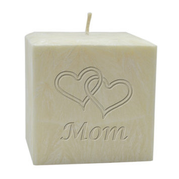 Carved Solutions Double Heart Mom Lavender Flameless Candle Size: 3