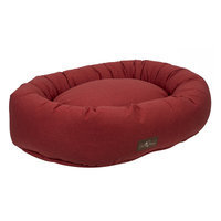 Jax And Bones Standard Wool Blend Donut Bed Size: Small, Color: Turmeric (Red)