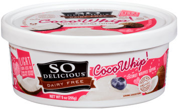 So Delicious® Light CocoWhip! Coconut Whipped Topping 9 oz. Tub