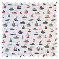 Stwd Ships and Sailboats Fabric by the Yard