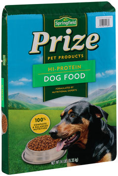 Springfield® Prize Hi-Protein Dog Food 14 lb. Bag