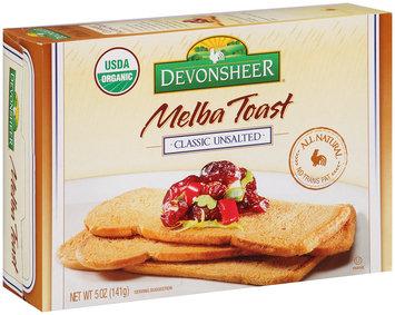 Devonsheer® Melba Toast Classic Unsalted 5 oz. Box
