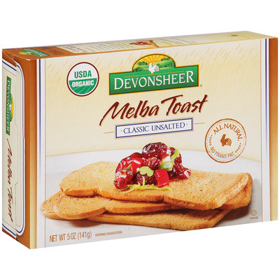 Devonsheer® Melba Toast Classic Unsalted 5 oz. Box