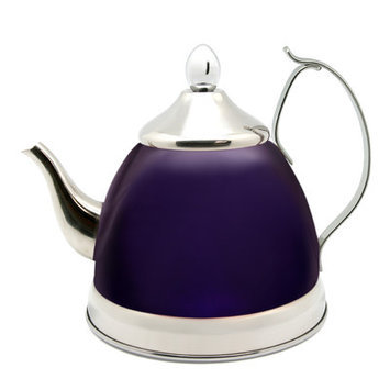 Creative Home Nobili 1-qt. Tea Kettle/Infuser Color: Purple