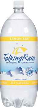 Talking Rain® Lemon Zest Sparkling Spring Water 2L Plastic Bottle
