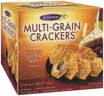 Crunchmaster Original Multi-Seed 2-10 Oz Bags Multi-Grain Crackers 20 Oz Box