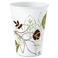 Dixie Paper Cups Hot Cups, Polylined, 8oz, 25/PK, Pathways/White