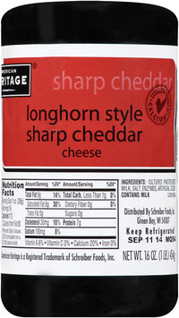 American Heritage® Longhorn Style Sharp Cheddar Cheese