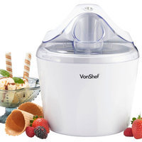Von Shef 1.25-qt. Ice Cream Sorbet and Frozen Yogurt Maker