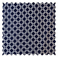 Sheetworld Links Fabric by the Yard Color: Navy