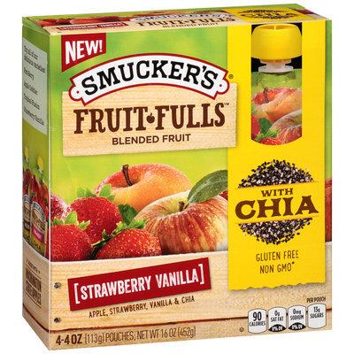 Smucker's® Fruit Fulls Strawberry Vanilla Blended Fruit 4.4 oz. Box