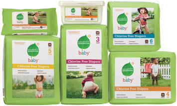Seventh Generation Stages 3-6 Group W/Wipes Baby Diapers