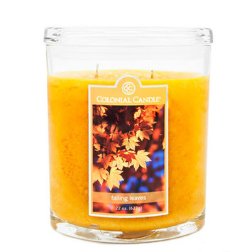 Colonial Candle 22-Ounce Scented Oval Jar Candle, Falling Leaves