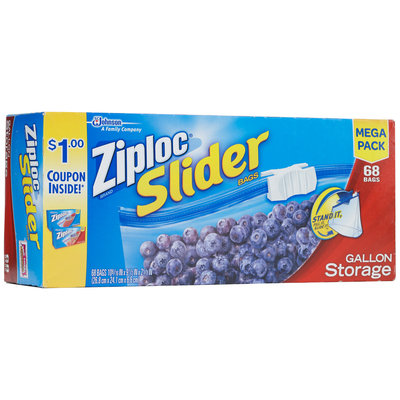 Ziploc® Slider Gallon Storage Bags 68 ct. Box