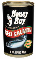 Honey Boy Fancy Alaska Sockeye Red Salmon 14.75 Oz Can