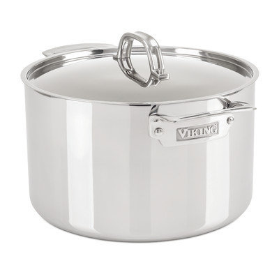 Viking Stainless Steel Stock Pot with Lid Size: 8 Quarts