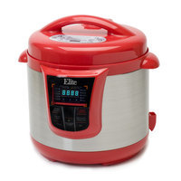 Elite Platinum 8qt 13 Function Pressure Cooker Red