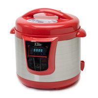 Elite Platinum 8qt 13 Function Pressure Cooker Red