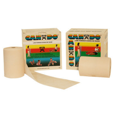 CanDo 10-5490 Low Powder Exercise Band 100 Yard 2 x 50-Yd Rolls Tan XX-Light