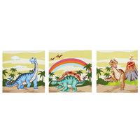 Teamson Kids Dinosaur Kingdom Wooden Wall Art 3 Piece Set