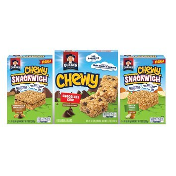 Quaker Chewy Peanut Butter Chocolate Chip Snackwich, Chewy Chocolate Chip, Chewy Apples, Caramel Snackwich