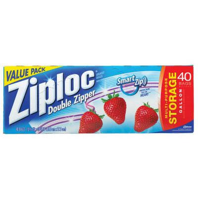 Ziploc Ziploc and Plastic Bags Double Zipper Plastic Storage Bags, 1.