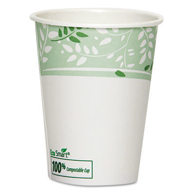 DIXIE 2342PLA PLA Hot Cups, Paper w/PLA Lining, Viridian, 12 oz, 1000/Carton