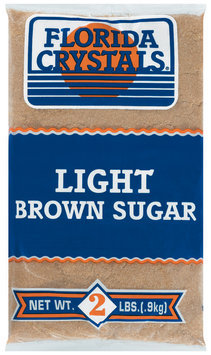 Florida Crystals Light Brown Sugar 2 Lb Bag