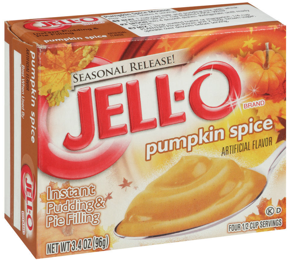Jell-O Instant Pumpkin Spice Pudding & Pie Filling 3.4 Oz Box