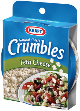 KRAFT NATURAL CHEESE Feta Cheese Crumbles 5 OZ PLASTIC CONTAINER