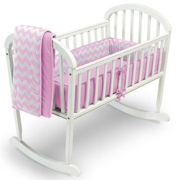 Baby Doll Bedding Chevron 3 Piece Cradle Bedding Set Color: Pink