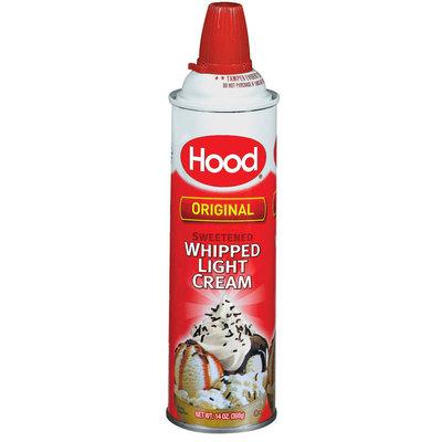 Hood Original Light Sweetened Whipped Cream 14 Oz Aerosol Can