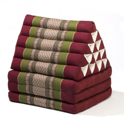 My Zen Home Triangle Lounger Color: Army / Red