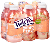 Welch's® White Peach Juice Drink Blend 6-10 fl. oz. Bottles