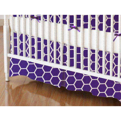 Stwd Honeycomb Crib Skirt Color: Purple
