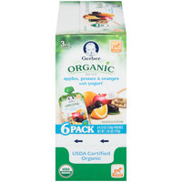 Gerber® Organic 3rd Foods® Apples, Prunes & Oranges with Yogurt Baby Food 6-4.23 oz. Pouches