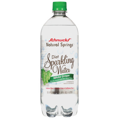 Schnucks Natural Springs Diet White Grape Sparkling Water Carbonated Water Beverage