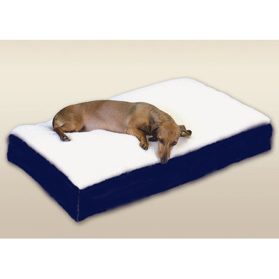 O'donnell Industries Snoozer Rectangular Sherpa Top Dog Bed - Medium/Navy