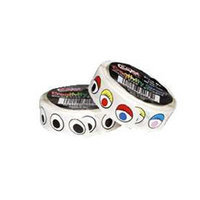 Chenille Kraft - Wiggle Eyes Stickers On a Roll - Black